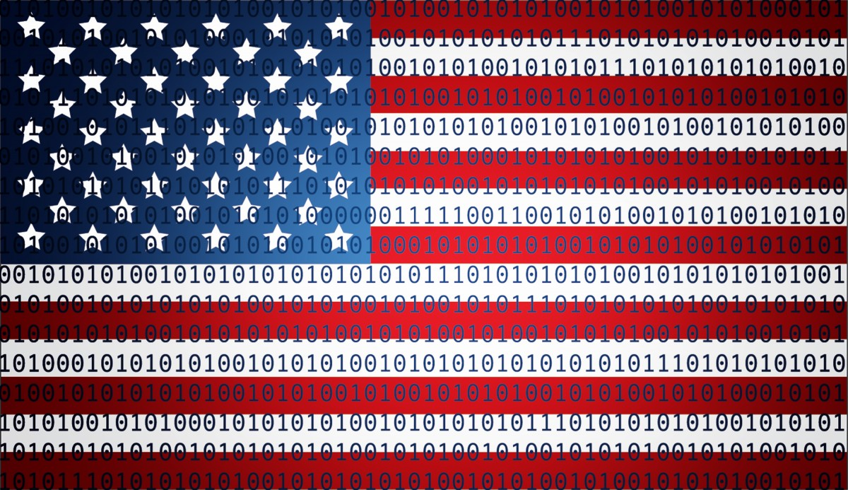 Murica flag, cyber edition