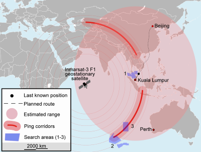 Search for MH370 by satellites